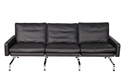 Enjoyable Amazon Com Mlf Black Aniline Leather Comfortable Solid Andrewgaddart Wooden Chair Designs For Living Room Andrewgaddartcom