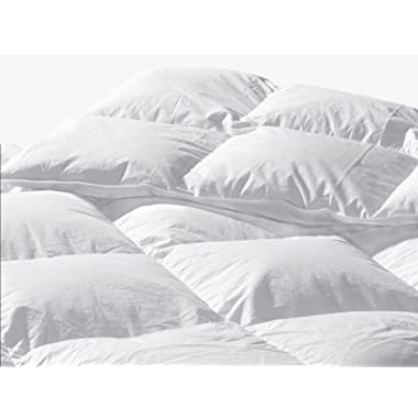 Highland Feather 289 TC Queen Size 88 x 90 White Goose Down Comforter: Standard Fill