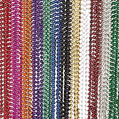 - Metallic Beaded Necklaces (48 pc)