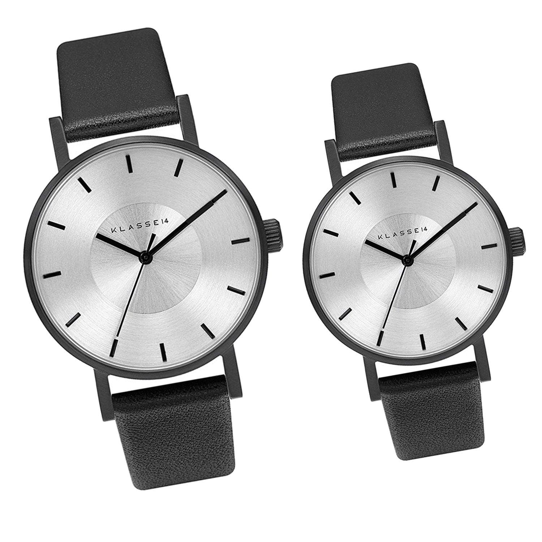 [クラス14]KLASSE14 腕時計 ウォッチ ペア販売 VOLARE 42mm 36mm ブラック/シルバー メンズ レディース [並行輸入品] B073GTVWF6