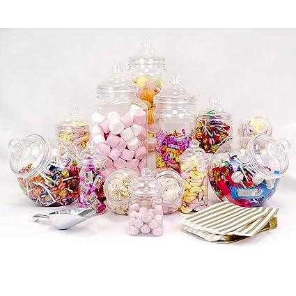 12 tarro Vintage Victorian Pick & Mix Candy Buffet + pala de ...