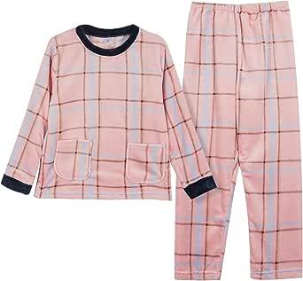 GOSO Pijama de Forro Polar para niñas 8 9 10 11 12 13 14 años,Pijama de Invierno cálido para Adolescentes niñas,Pijamas y Pantalones Largos,Pijamas para niñas Grandes