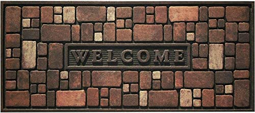 Apache Mills Master Piece Pebble Beach Door Mat, 22-Inch by 36-Inch