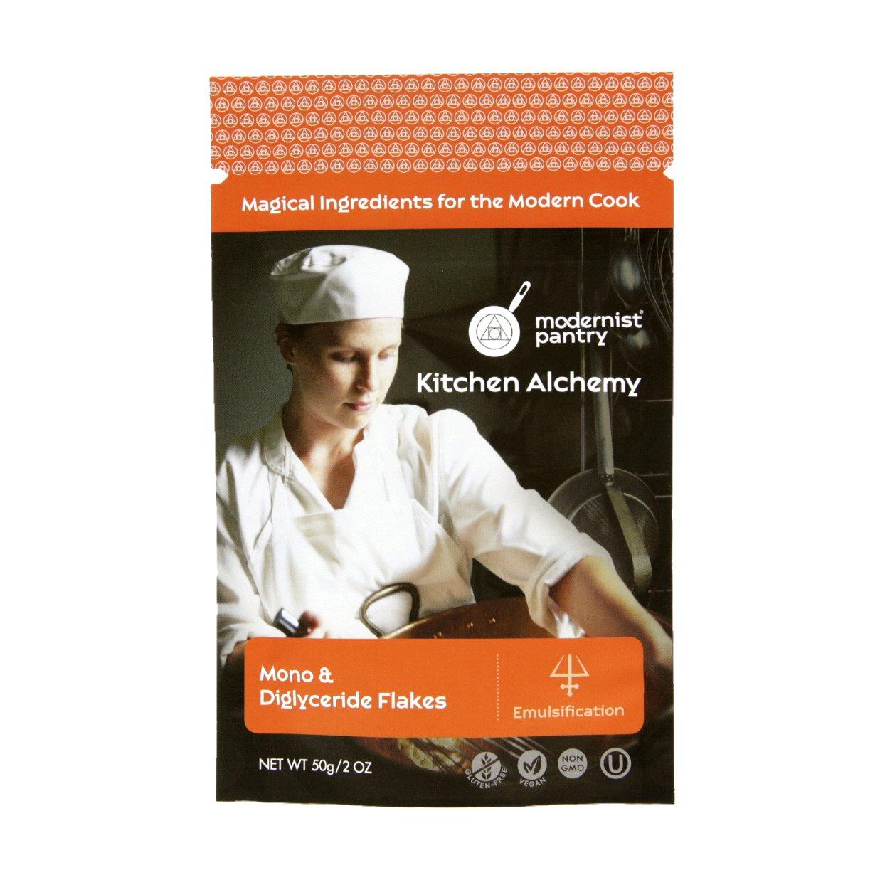 Pure Glycerin Flakes [Mono & Diglyceride] ⊘ Non-GMO ☮ Vegan ✡ OU Kosher Certified - 50g/2oz