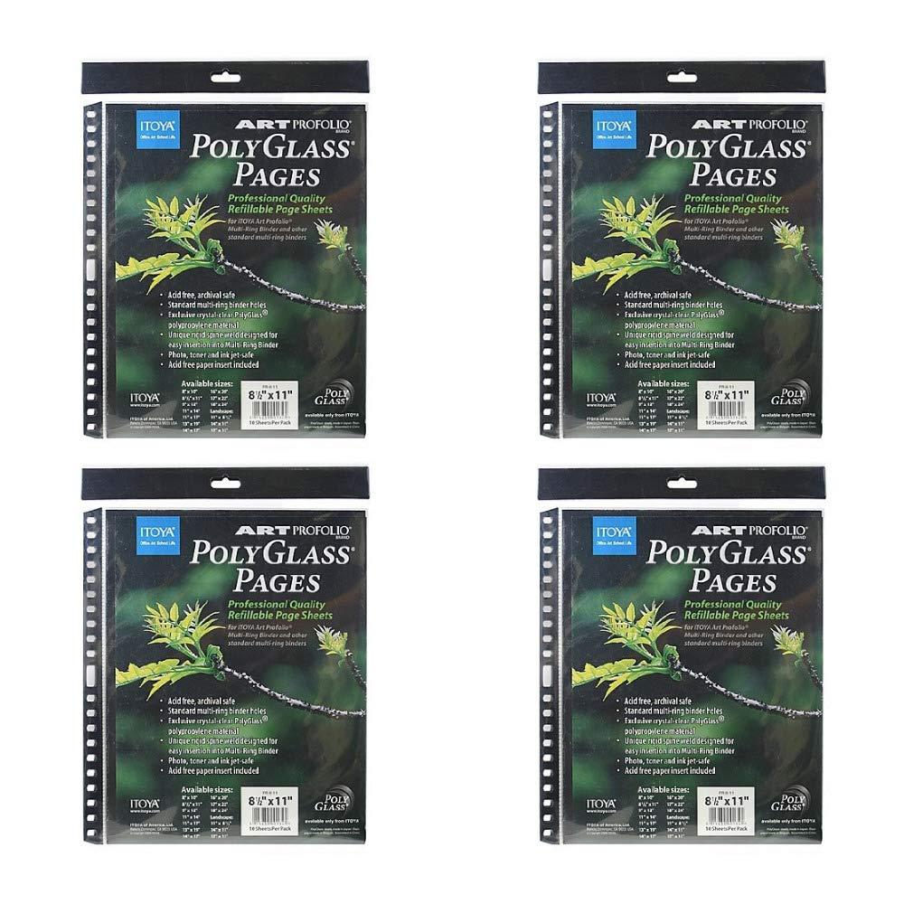 Itoya Art Portfolio Polyglass Refill Pages 4-Pack (Set of 10/Size: 8.5'' x 11'') by Itoya of America, Ltd