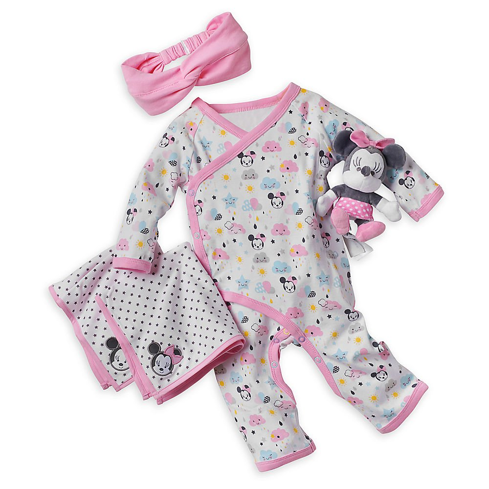 Mickey Mouse Grey Smart Romper Disney New Born Baby Brand New in Gift Box