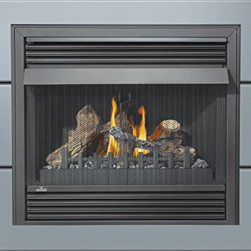 "Buy Napoleon Grandville VF Series GVF36-2N 37"" Vent Free Natural Gas Fireplace with Millivolt Ignition Up to 30 000 BTU"