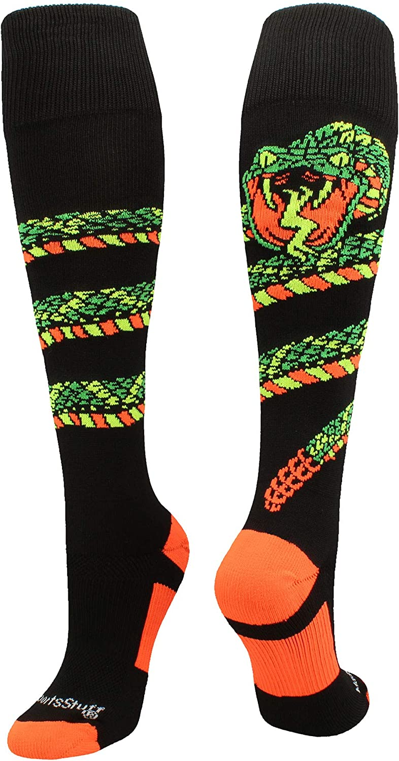 MadSportsStuff Crazy Snake Over The Calf Athletic Socks : Clothing