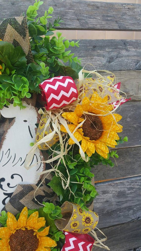Everyday Rooster Door Wreath / Floral Rooster Wreath / Farm Wreath / Summer Wreath / Rooster Wreath