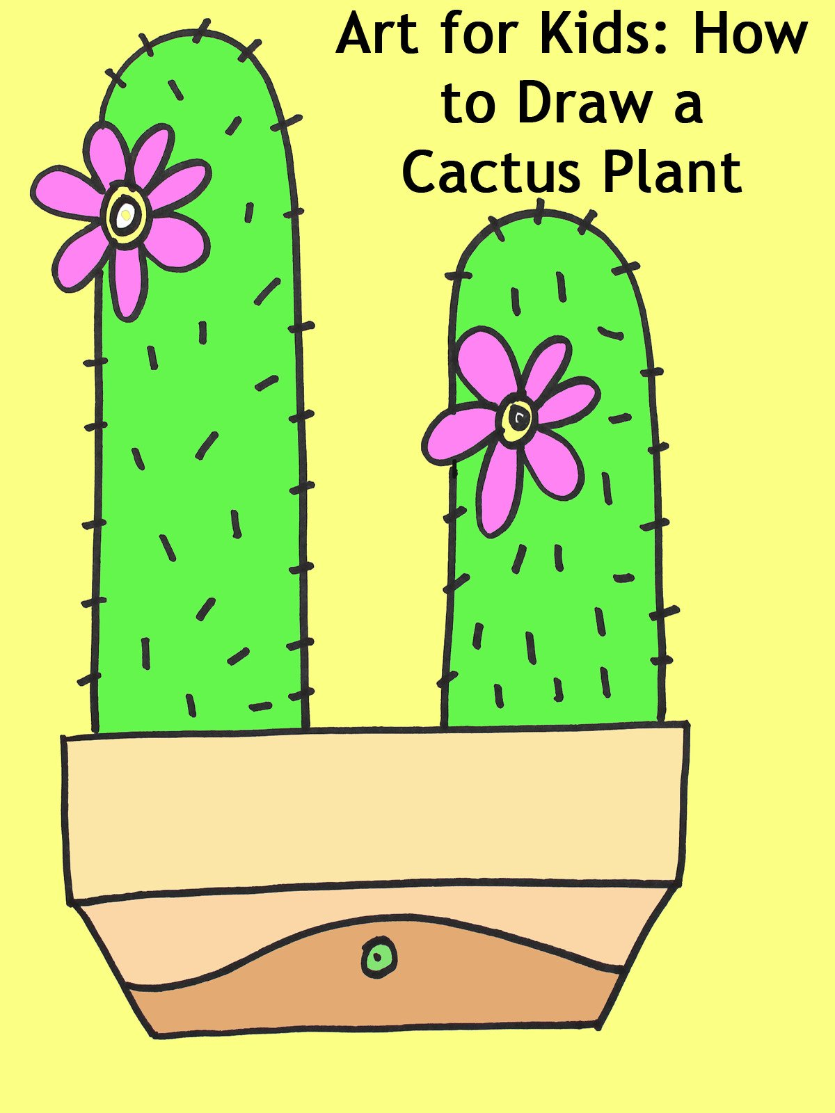 Amazon Com Watch Art For Kids How To Draw A Cactus Plant Step By