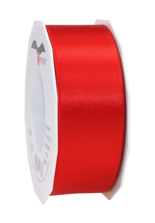 pattberg 40 mm 25 m de Cinta de Raso de Doble Cara Rojo Prasent C.E
