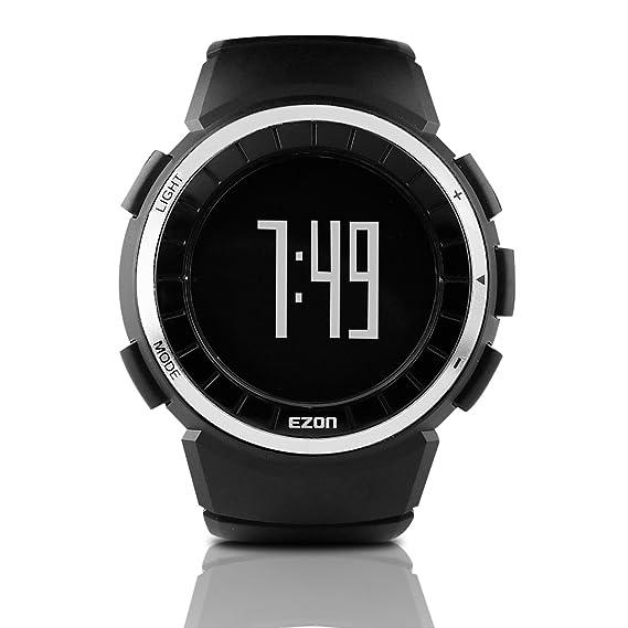 Reloj Deportivo Digital EZON Reloj cronómetro para Correr al Aire Libre con Impermeable, Alarma, Calendario, calorías quemadas, luz de Fondo, ...