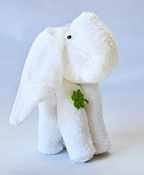 Frottier regalo Set Origami invitados toalla de lavado Guante, diseño/Art: Elefante Blanco: Amazon.es: Hogar
