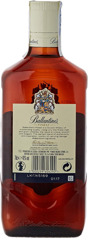 Ballantines Finest Whisky Escocés de Mezcla - 700 ml: Amazon.es: Alimentación y bebidas