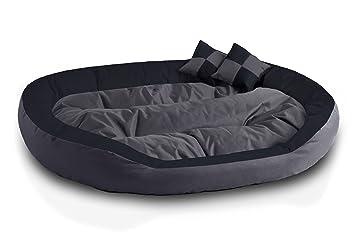 BedDog 4 en 1 Saba Antracita/Gris XXXL Aprox. 150x120cm colchón para Perro,. Pasa el ...