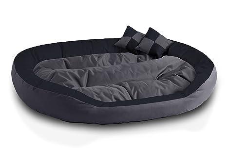 BedDog 4 en 1 Saba Antracita/Gris XXXL Aprox. 150x120cm colchón para Perro,