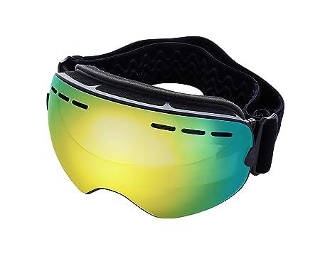 Mira – Ski Goggles – Anti-Fog, Anti-Wind, UV400 Protection – OTG Wear Over Glasses – Snowboarding Goggles for Men, Women, Kids – Changeable Lenses