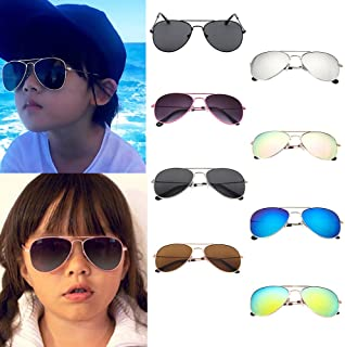 Children Sunglasses, YUYOUG Glasses Kids Pilot Trendy Anti-UV Sunglasses for Boys Girls UV400 CE Certified, For For Outdoor Sport,Spring Outing,Family Photo, Party Favors Cute Gift