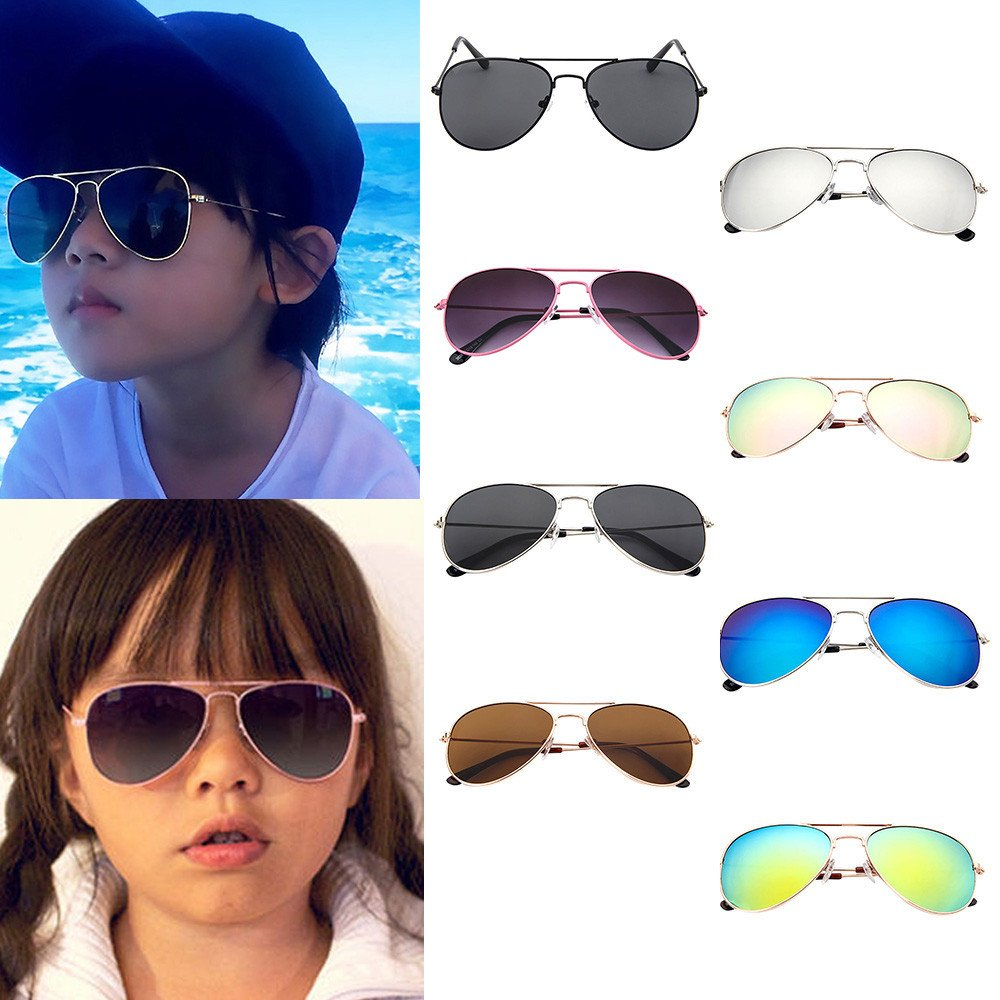 Children Sunglasses, YUYOUG Glasses Kids Aviator Pilot Trendy Anti-UV Sunglasses for Boys Girls UV400 CE Certified, For For Outdoor Sport,Spring Outing,Family Photo, Party Favors Cute Gift Party Favors Cute Gift (A)