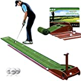 GimiYaa Golf Putting mat Green Indoor and Outdoor with Auto Ball Return,Game Practice Golf Gifts for Home, Office, Backyard I