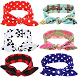 Baby Bow Knotted Headband Girl's Hair Accessories Band Head Wrap Headwear 6 Pcs (A)