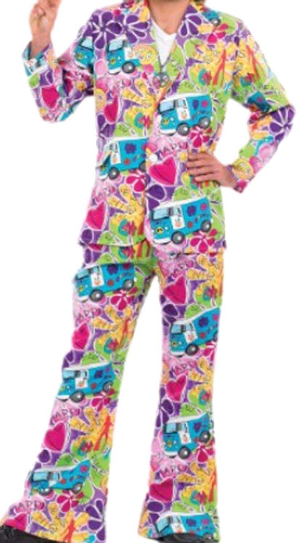 erdbeerclown - Hombre karnevalskomplett Disfraz años 60 hippie, M ...