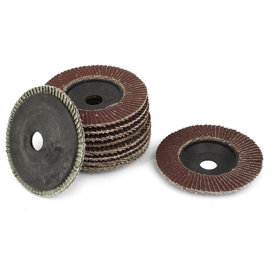 RilexAwhile 4-inch x 5//8-inch Sanding Flap Disc Grinding Wheel 320 Grit 10 Pcs