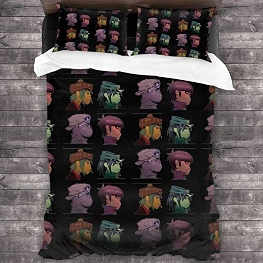 Amazon Com Zomsun Gorillaz Bedding Comforter Set Full 3 Piece Bed Sets Soft Comfy Microfiber Lightweight With 2 Pillowcase Home Kitchen