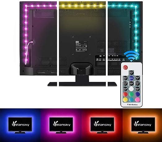 Vansky® 2M LED Rétro-éclairage TV Pour HDTV / PC Gaming LED Bande Accueil  Multi Couleur Eclairage d\'accentuation Néon LED RGB pour les Accessoires TV  ...
