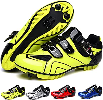 Mountain Bike Shoes Men MTB Cycling Shoes SPD Compatible Two-Bolt Cleat Cross Country Race Shoes Bike Breathable Stable Comfortable Durable Rider All-Mountain Trail Riding