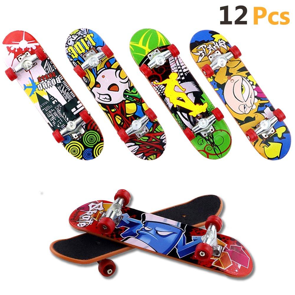 HEHALI 12 PCS Matte Metal Professional Mini Fingerboards Finger Skateboard