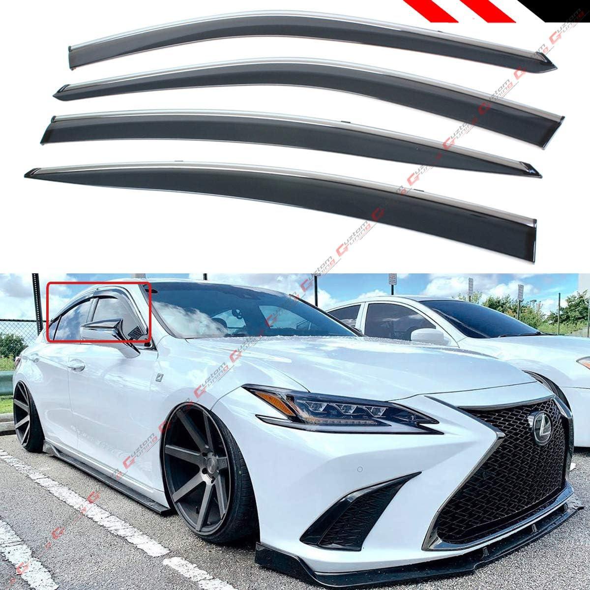 Set of 2 Custom Fit Automotive Reflective Front Seat Side Window Sunshade for 2019 Lexus ES350 ES300H Sedan