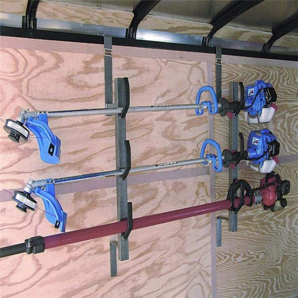 3 Place Trimmer Rack For For Enclosed Trailers Racks PK 6-5 With Lock