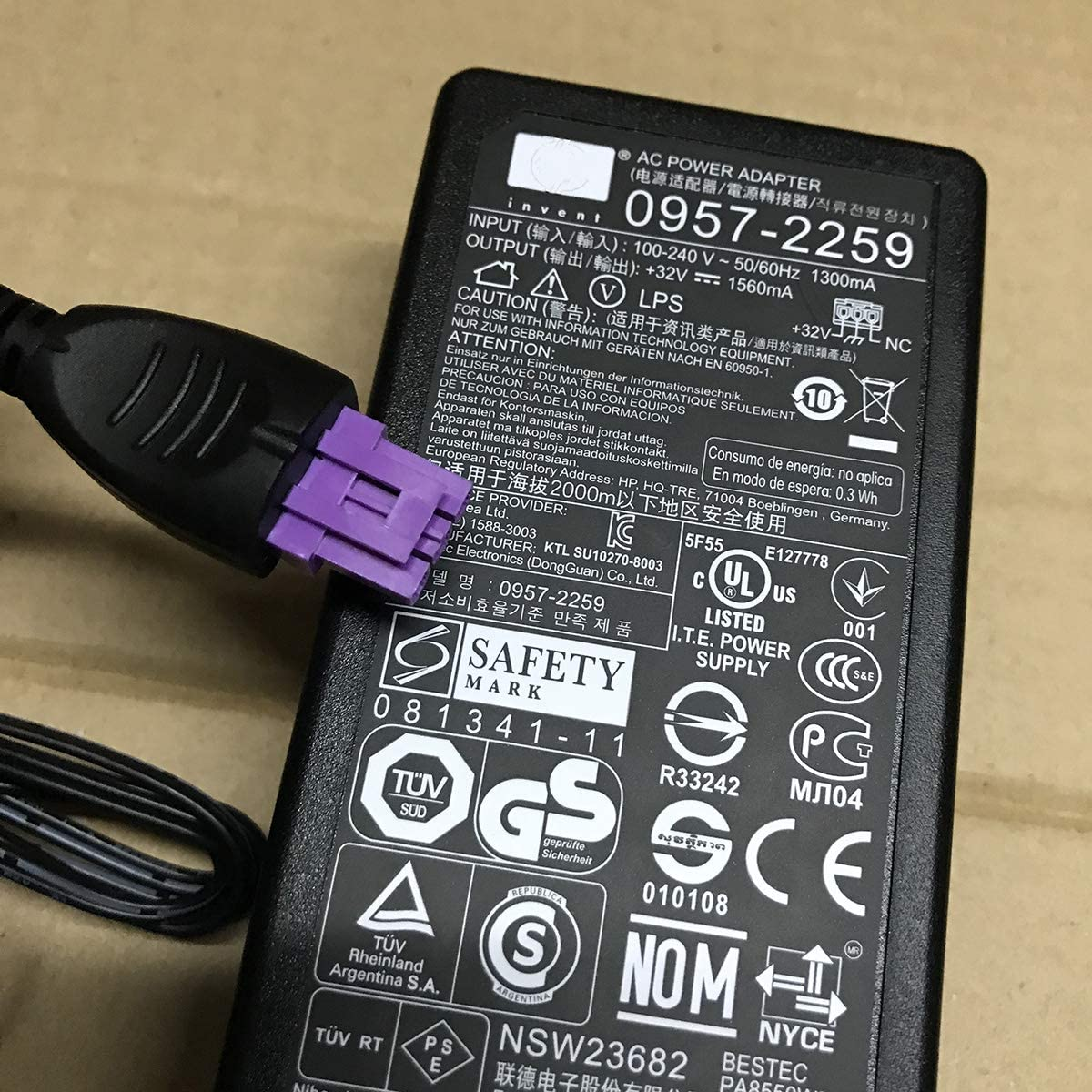 Original Printer Adapter For HP PhotoSmart 8450, HP B210, C309 a, g, C310, C2780 Printer Power Supply Charger 0957-2230 0957-2105 0957-2271