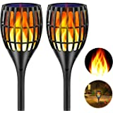 Ollivage Solar Torch Flame Lights Waterproof Dance Flame Lighting Solar Garden Light Outdoor Landscape Decoration…