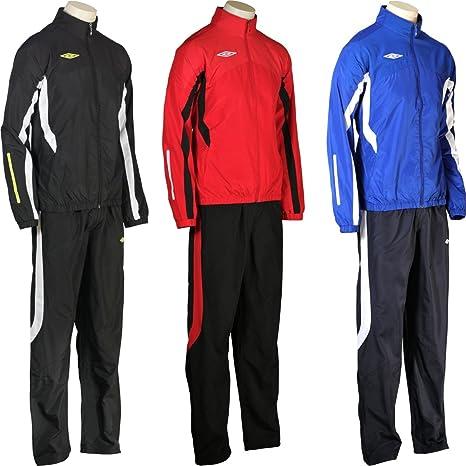 Umbro teampro Woven Suit - Chándal, color negro/rojo/azul, hombre ...