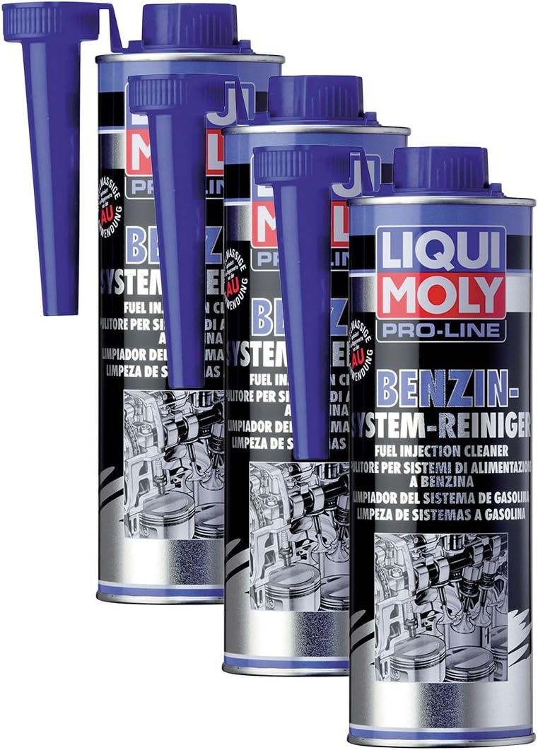 3x Liqui Moly 5153 Pro Line Benzin System Reiniger Kraftstoff Additiv 500ml Auto