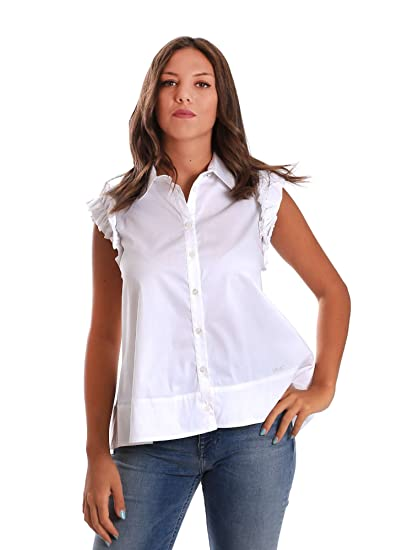 Liu-Jo W18157T9371 Camicia Donna Bianco 40  Amazon.it  Abbigliamento 94ed63892e7