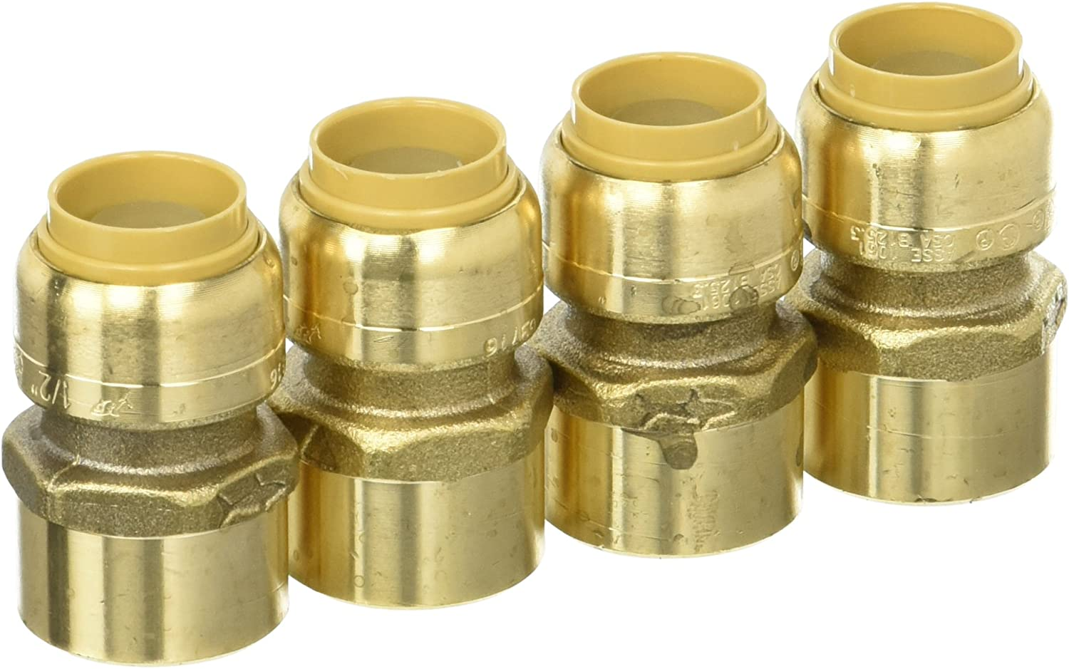 """1//2/"""" SharkBite Style Push to Connect LEAD FREE BRASS CAPS Plumbing Connector 5"""