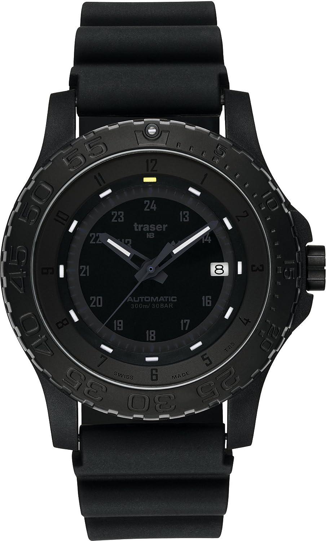 [トレーサー]traser 腕時計 MIL-G AUTO PRO(ミルジー オートプロ) ALL BLACK 替えバンド付 9031565 メンズ 【正規輸入品】 B00WME0LRY