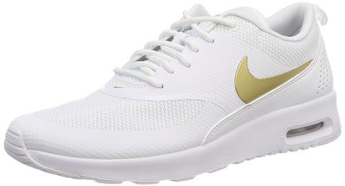 Womens WMNS Air Max Thea J Gymnastics Shoes, Bianco Nike