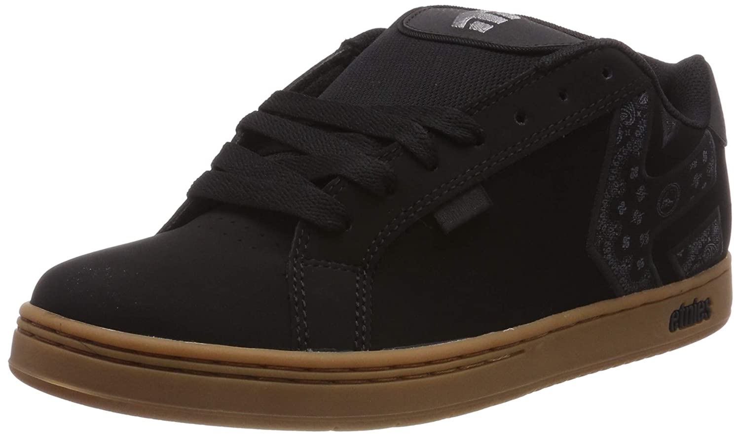Black//Gum 964 7.5 UK EU ETNAB|#Etnies Metal Mulisha Fader Zapatillas de Skateboard para Hombre