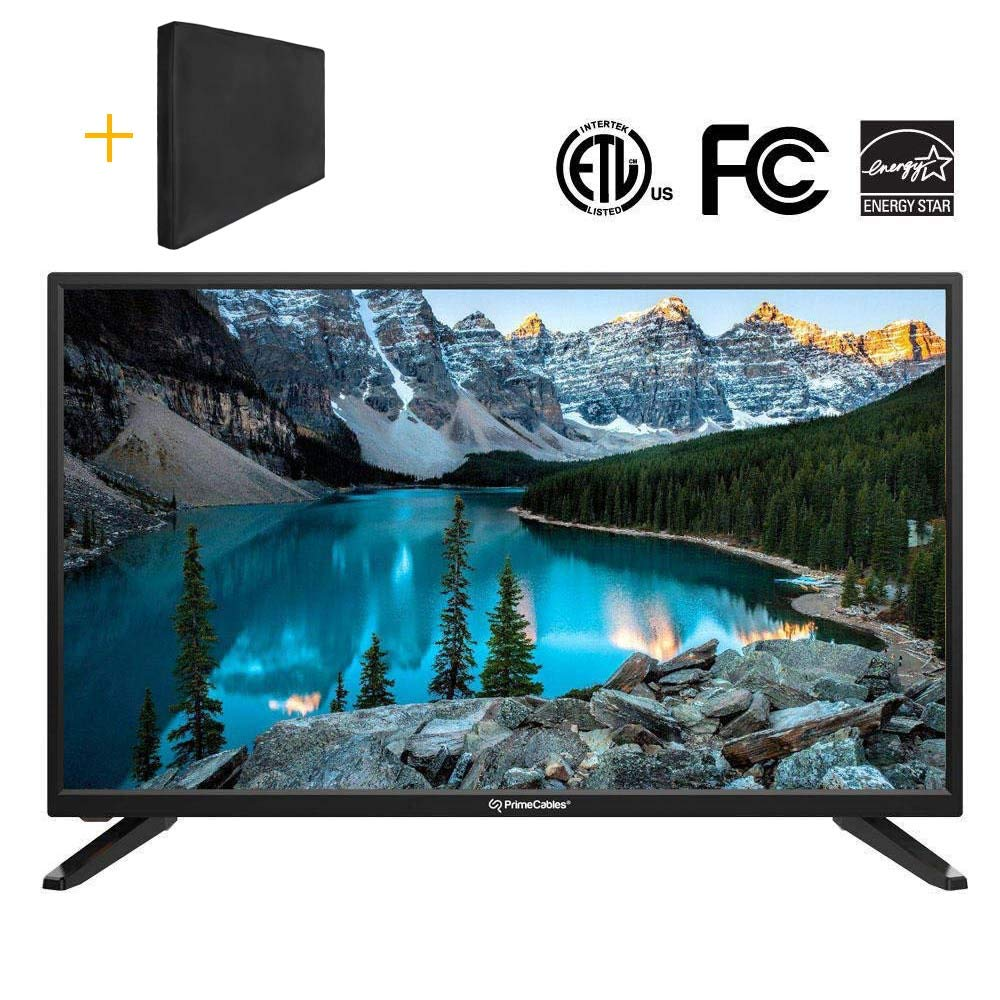 PrimeCables  HD TV 720p with LED Backlit, 32' IPS LCD Panel Television with USB Port, 3 HDMI Input Channel, Energy Saving 32 IPS LCD Panel Television with USB Port