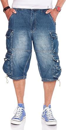 TALLA 5XL. Jet Lag 007 B - Pantalones cortos para hombre, color azul marino