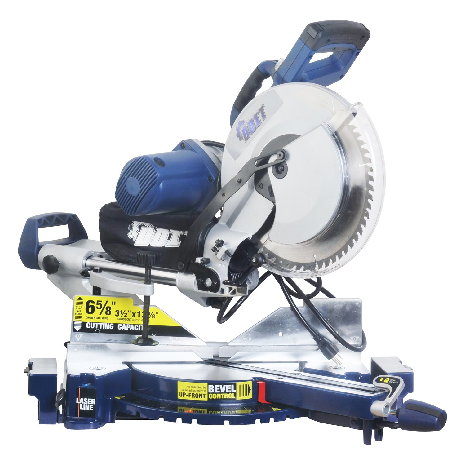Wonlink 15 Amp 12'' Dual Bevel Sliding Compound Miter Saw with Laser and LED Work Light by Wonlink (Image #1)