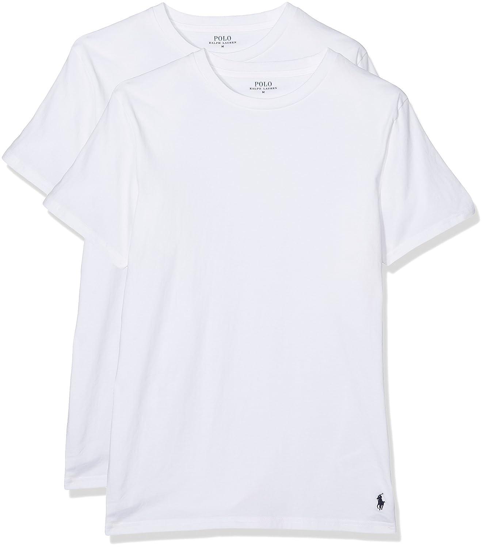 Polo Ralph Lauren 2-Pack T-shirt da Uomo crew neck Shirt - Bianco 714621944002