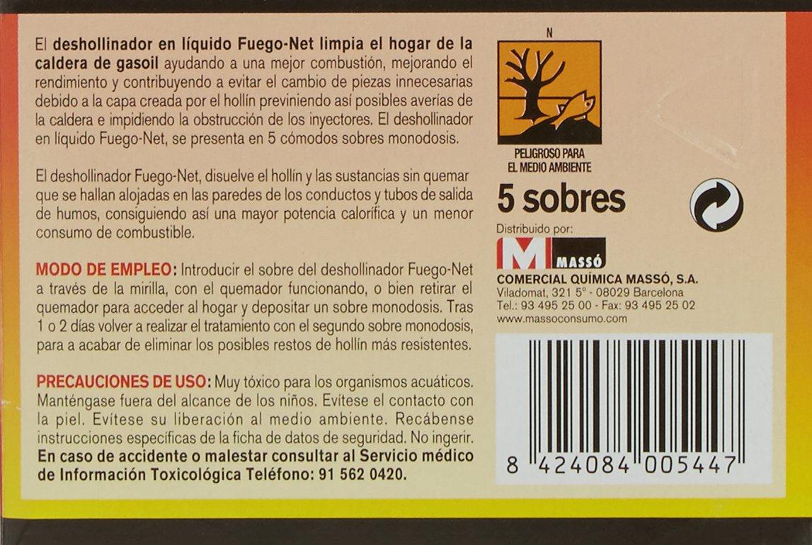 FUEGO NET Fuegonet 231286 Deshollinador Calderas de Gas-Oil, Verde, 9.69 x 3 x 6.5 cm: Amazon.es: Bricolaje y herramientas
