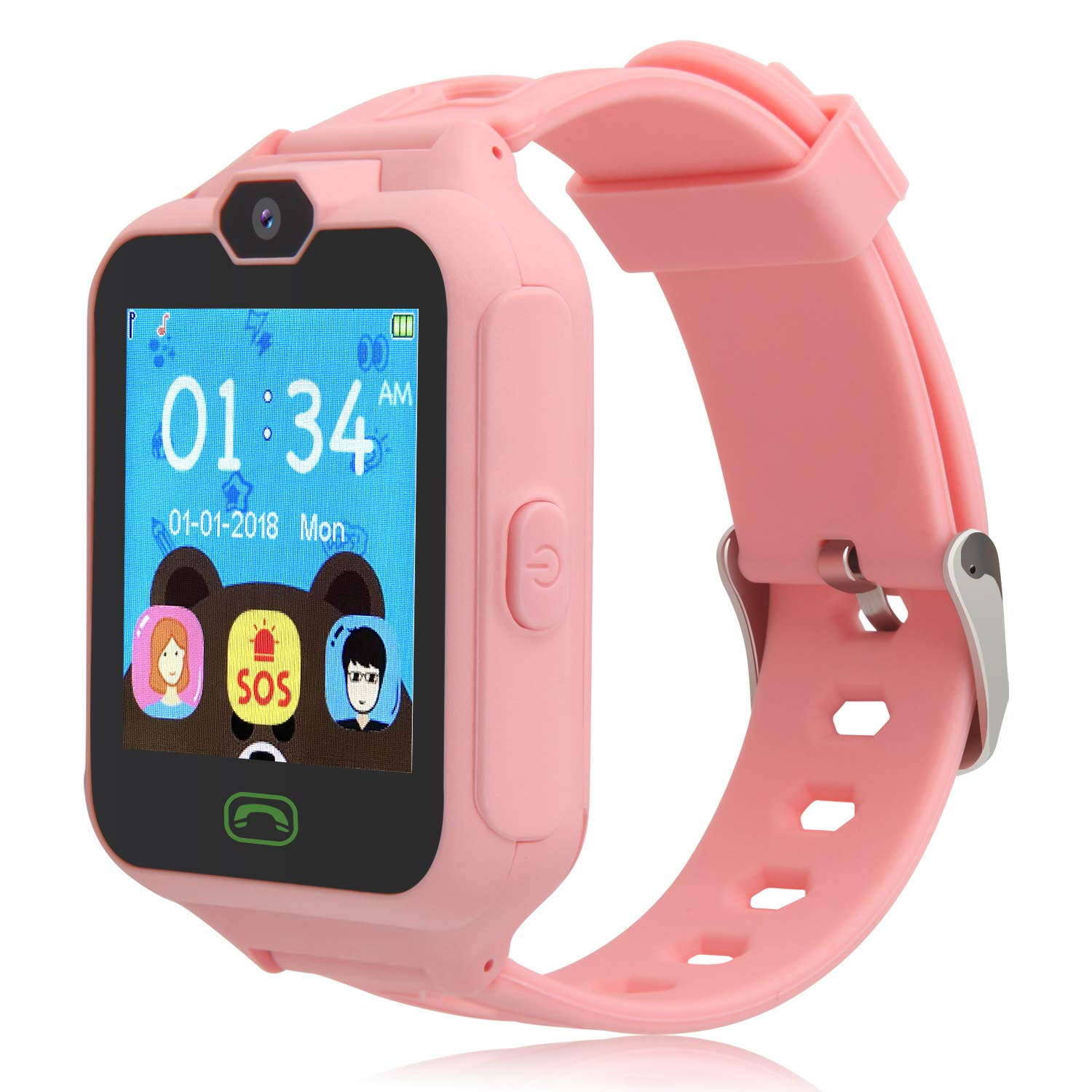 HSX_Z Phone Watch for Kids Smart Watch for Kids with Digital Camera Touch Screen, Phone Game Cool Toys Watch Gifts for Girls Boys Children Birthday Gifts Watch£­Pink by HSX_Z (Image #1)