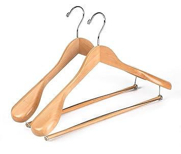 Amazon.com: Ganchos de madera para trajes de calidad y lujo ...