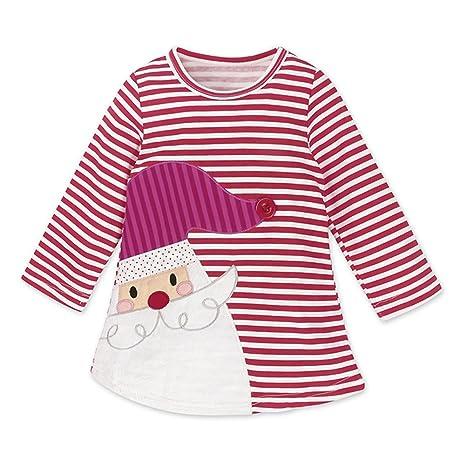 Niñas Navidad Vestir Vestidos - Hibote Princesa Ropa Bebe Otoño Invierno Vestidos Muñeco de Ciervo Manga